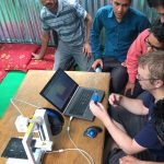 Nepal Mark trainning others in how to print