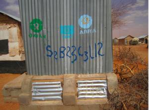 Urine diversion dry toilet in Hiloweyn camp, Dollo Ado