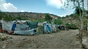 Community targeted for disaster mental health intervention, outskirts of Port-au-Prince, Haiti