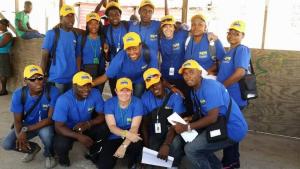SLM Haiti Team with University of Colorado researchers. July 14. Port-au-Prince, Haiti