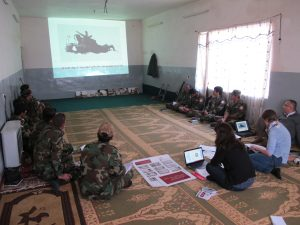 Training session on the prohibition of sexual violence for combatants of an armed group operating in Iraq. November 2015 @Geneva Call
