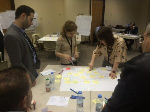 Hasan Nisr, American University Beirut / Karin Diaconu assisting a group of participants in developing a Concept Model