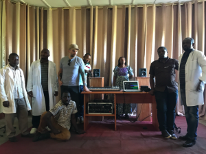 Mulamba Studio Inauguration with Key Staff/Mulamba, rural DRC, photo credit: Darcy Ataman