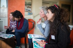 RedR Refugee Response training, course participants, Lesbos. Credit Amy Murrell