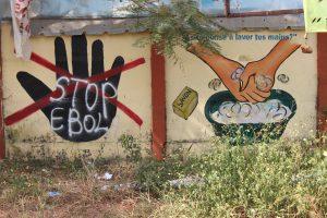 Ebola public health mural outside Université de Sonfonia, Guinea