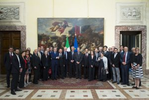 Activists, Academics and leaders from the world of heritage at a reception with the Italian Prime Minister, Paulo Gentiloni