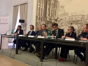 Anthony Sattin representing the mCubed team on the panel session at the international meeting held in Rome in conjunction with UNESCO