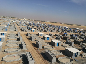 An image showing when 480 Syrian Refugee plots were being built at Qushtapa Camp, outside Erbil City, Kurdistan Region of Iraq
