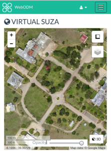 Stitched aerial imagery over State University Zanzibar